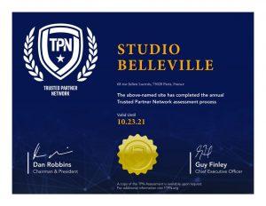 Studio Belleville - Attestation TPN
