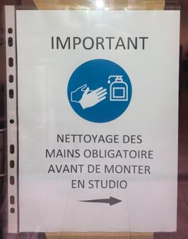 Affiche mesures sanitaires
